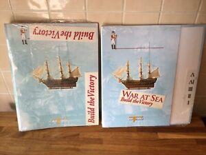 2 New Folders DEL PRADO WAR AT SEA BUILD THE HMS VICTORY SHIP for Magazines