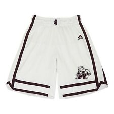 Mississippi State Bulldogs Adidas Men's  White Basketball Performance Shorts