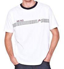 "Head Sports S Mens SS White T-Shirt Bnwt Brand New Tennis Top 40"" 42"" s m l Logo"
