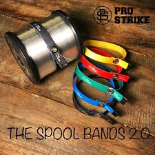 The Spool Bands 5 Colored fishing line spool tamers by PRO-STRIKE LLC