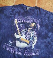 Liquid Blue ~ JIMI HENDRIX ~ Purple Haze ~ Tie Dye Purple T Shirt ~ 4XLT