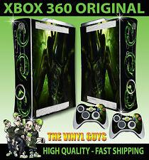 XBOX 360 H R Giger Alien Horror OSCURO Accesorios Pegatina carcasa & 2 PAD Skins