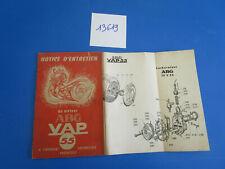 livret notice d/'entretien moteur ABG VAP 55 de 1955 en reproduction