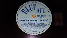 "DUKE ELLINGTON Rose Of The Rio Grande/ Prelude To A Kiss 10"" 78rpm Blue Ace 249"