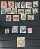 State Of North Borneo Stamps With 10 Dollars Stamp