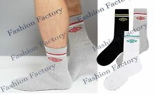 6 Pairs Pack Men`s Umbro Socks Sports Gym Casual Black White Grey Socks UK 6-11