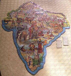 India Vintage Waddingtons Jig Map Puzzle