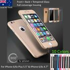 360 Degree Full Cover Cases For iPhone 6/6s Plus iphone 6/6s With Tempered Glass
