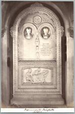 Italie, Bologna, Monumento Minghetti Vintage albumen print. Tirage albuminé