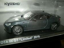 1:43 Kyosho Toyota 86 GT Limited 2016 Dark grey/dunkelgrau Nr. 03895DG in OVP