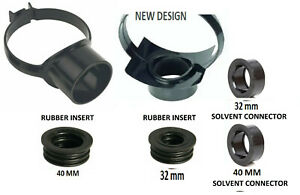 110mm Soil Pipe Strap on Boss Waste Pipe Black 40mm or 32mm Rubber or Glued D1