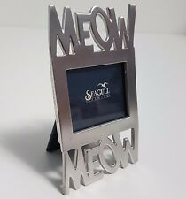 Small CAT Picture Frame MEOW Seagull Pewter 1996 Canadian Stocking Stuffer