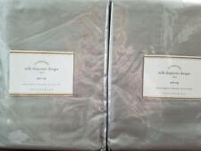 "2 Pottery Barn Silk Dupioni Pole Pocket Drapes ~ 50"" X 84"" ~ PLATINUM GRAY"