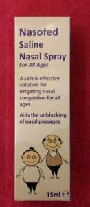 NASOFED SALINE NASAL SPRAY FOR ALL AGES 15ML CONGESTION RELIEF