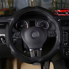 "Black Warm Suede Anti-slip Soft Sport Auto Car Steering Wheel Cover 38cm/14.9"""