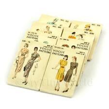 8 Maison de poupées miniature VOGUE ROBE MOTIF paquets (dpps08)