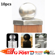 10Pcs 100*100MM Galvanised Steel Round Ball Fence Finial Post Caps-Ball top AU