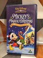 Walt Disney Mickey's Magical Christmas VHS Video Tape Childrens TBLO