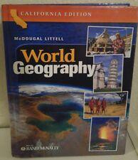 McDougal Littell World Geography 10th grade 10 homeschool ATLAS RAND MCNALLY LN