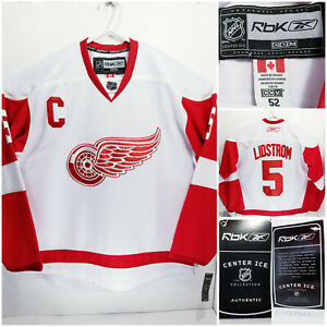 NWT Reebok CCM Detroit Red Wings Nicklas Lidstrom Mens Size 52 Jersey Authentic