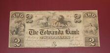 1841 $2  The Towanda Bank, Bradford County, Pennsylvania! Obsolete