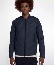 Mens Nike Sportswear Tech Fleece Aeroloft Bomber 863726-451 Obsidian New Sz L