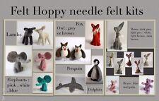 2 X Needle Felt Kits Of Your Choice Hare Fox Penguin Dog Cat Elephant Sheep Bear