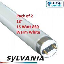 T8 15 Watt 450mm Fluorescent Tube Warm White SYLVANIA 15w 830 26mm Diameter