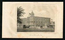1837 New York City Hall Building, Antique Print - Rochelle
