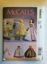 """McCall's Crafts Sewing Pattern M6903 11.5"""" Fashion Doll Clothes & Accessories"""