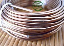 Bigiotteria Filo Alluminio Modellabile di 3mm color Bronzo Wire Fai da te 2mt.