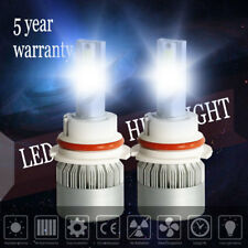 Pair 9007 HB5 1500W 225000LM COB LED Headlight High Low Beam Bulbs 6000K White