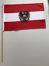 Fahne Flagge Österreich 30x45 cm mit Wappen mit Stab