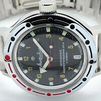 RUSSIAN VOSTOK AUTO AMPHIBIAN (#420270) MILITARY DIVER  WRIST WATCH (NEW)