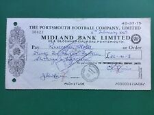 More details for 1969 portsmouth football club headed bank cheque signed by jimmy dickinson