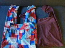 Lot Of 2 Lularoe Leggings, One Size, Solid Purple, Red White Blue Print