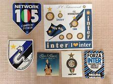 6 ADESIVI INTERNAZIONALE F.C. CALCIO RADIO 105 SCUDETTO RECORD IERI L' INTER