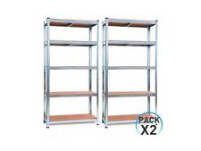 Pack 2 Estanterías Modulares Galvanizadas con 5 baldas ajustables