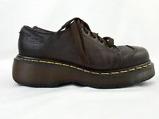 VTG 90s Dr. Martens Dark Brown Leather Creepers Made in England UK 5, US 7 Women