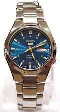 SNK615K1 SEIKO 5 Stainless Steel Band Automatic Men's Blue Watch Brand New !!