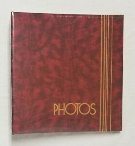 Vintage Maroon Burgundy Red & Gold Photo Album NEW SEALED Made in USA