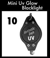 10 x UV Glow Face Paint Blacklight Uv Black light Pocket Mini Pocket Key Ring