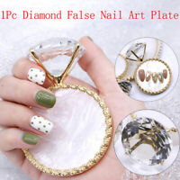 Diamond False Nail Art Plate Tips Display Stand Nail Polish Gel Manicure AE