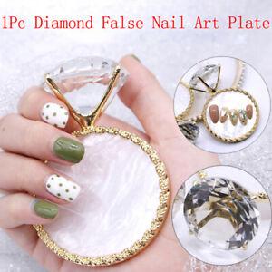 Diamond False Nail Art Plate Tips Display Stand Nail Polish Gel Manicure AECCA