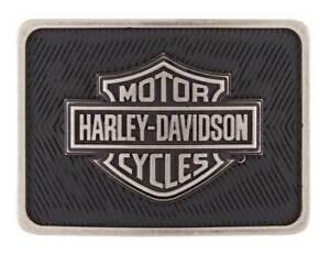 Harley-Davidson Men's Legacy B&S Belt Buckle, Antique Nickel Finish HDMBU11659
