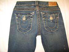 True Religion Jeans Womens Billy Slim Straight Leg Heritage Pocs Sz 25