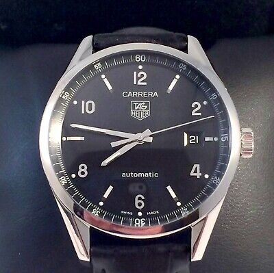 Tag Heuer Carrera Calibre 5 Mens Watch Automatic in Excellent Condition WV211