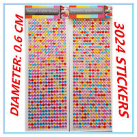 3024 COLOURFUL COLOURFUL CRYSTAL STICKERS - CRAFT HOME DECORATING BEAUTY AP