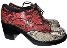 $1500 Miu Miu By Prada Oxford Platform Python Flat Shoe  39.5- 9 Moccasins
