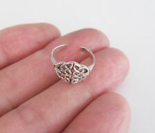 Sterling Silver Celtic Trinity knot adjustable toe ring